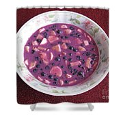 Blueberry And Banana Soup Shower Curtain