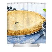 Blueberry Pie Shower Curtain