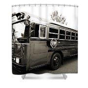 Bluebird Bus Limo 2 Shower Curtain