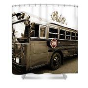 Bluebird Bus Limo 3 Shower Curtain
