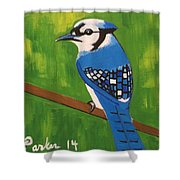 Bluebird Shower Curtain