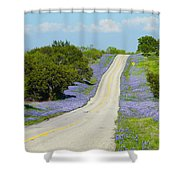 Bluebonnet Highway 2am-28667 Shower Curtain