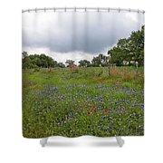 Bluebonnet Hill Shower Curtain