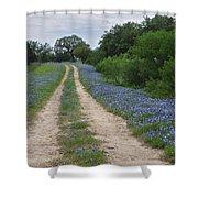 Bluebonnet Trail Shower Curtain