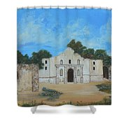 Bluebonnets At The Alamo Shower Curtain