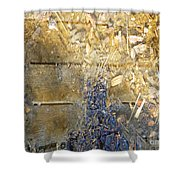 Bluegold Woodshed Flooring Shower Curtain by Brian Boyle