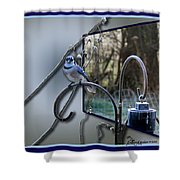 Bluejay Oob - Featured In 'out Of Frame' And Comfortable Art Groups Shower Curtain