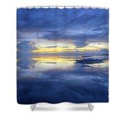 Bluer Than Blue Shower Curtain