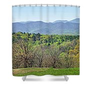 Blueridge Mountains In The Spring Shower Curtain