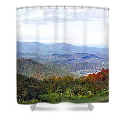 Blueridge Parkway View 2 At Mm 404  Shower Curtain