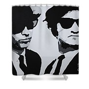 Blues Brothers Shower Curtain