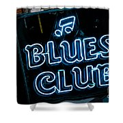 Blues Club On Bourbon Street Nola  Shower Curtain