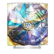 Blues Mandala Bowl Shower Curtain