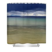 Beautiful Blues Over Mackinac Island  Shower Curtain
