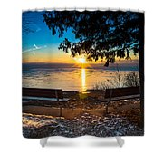 Bluff  Benches Shower Curtain