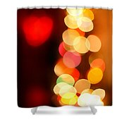 Blurred Christmas Lights Shower Curtain