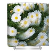 Blurred Daisies Shower Curtain