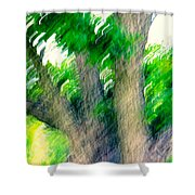 Blurred Pecan Shower Curtain