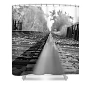 Blurred Track Shower Curtain