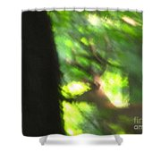 Blurry Buck Shower Curtain