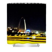 Blurry Waterfront 3 Shower Curtain