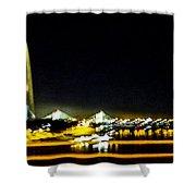 Blurry Waterfront 4 Shower Curtain