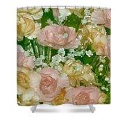 Blush Beige Floral Shower Curtain
