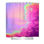 Blush Frondescence Shower Curtain