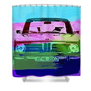 Bmw 2002 Front Watercolor 1 Shower Curtain by Naxart Studio