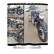 Bmw Art Deco Bikes Shower Curtain