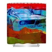 Bmw Laguna Seca Shower Curtain by Naxart Studio