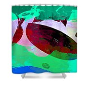 Bmw Racing Detail Shower Curtain by Naxart Studio