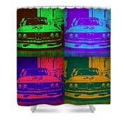 Bmw Racing Pop Art 1 Shower Curtain by Naxart Studio