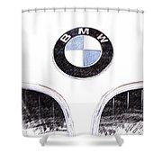 Bmw Z3 Emblem Sketch Shower Curtain