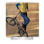 Bmx Flatland Ride - Wonderful Warm Light Shower Curtain
