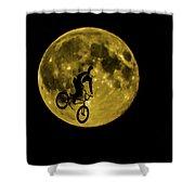 Bmx Moon Shower Curtain