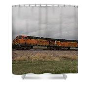 Bnsf Train 5833 A Shower Curtain