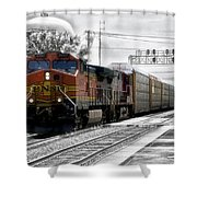 Bnsf Train Shower Curtain