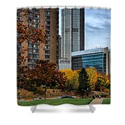 Bny Mellon From Duquesne University Campus Hdr Shower Curtain