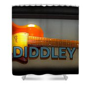 Bo Diddley's Guitar Shower Curtain