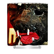 Boar Mask Shower Curtain