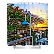 Board Walk Shower Curtain