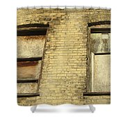 Boarded Windows 2 Shower Curtain