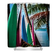 Boards Of Surf Shower Curtain
