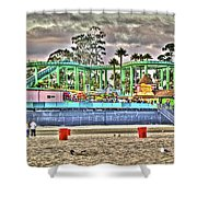 Sand And Amusement Shower Curtain