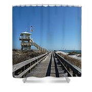 Boardwalk At Ponce Shower Curtain
