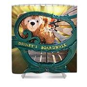 Boardwalk Bear Shower Curtain