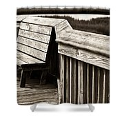 Boardwalk Bench Shower Curtain