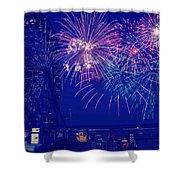 Boardwalk Fireworks Shower Curtain
