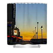Boardwalk House Of Blues At Sunrise Shower Curtain